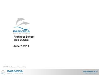 Architect School Web UI/CSS June 7, 2011