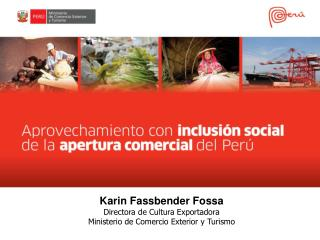Karin Fassbender Fossa Directora de Cultura Exportadora Ministerio de  Comercio Exterior y Turismo