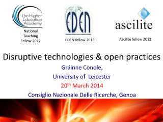 Disruptive technologies & open practices