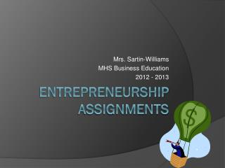 Entrepreneurship Assignments