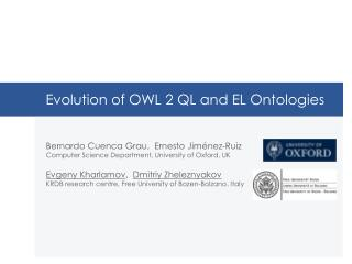 Evolution  of OWL 2 QL and EL Ontologies