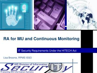 RA for MU and Continuous Monitoring