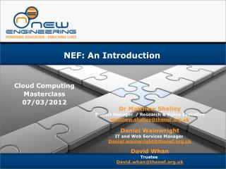 NEF: An Introduction