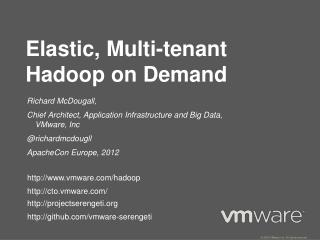 Elastic, Multi-tenant  Hadoop  on Demand