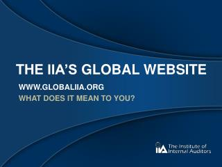 The  iia's  global website