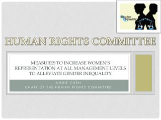 Measures  to increase women's representation at all management levels to alleviate gender inequality