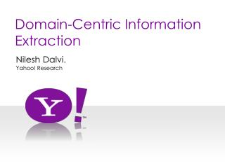 Domain-Centric Information Extraction