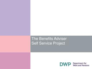 The Benefits Adviser  Self Service Project