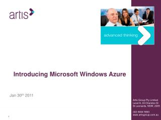 Introducing Microsoft  Windows Azure