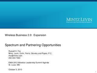 Wireless Business 2.0:  Expansion