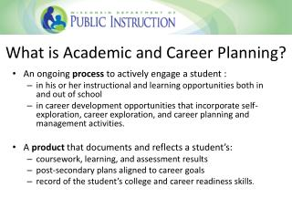 What is Academic and Career Planning?
