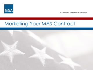 Marketing Your MAS Contract