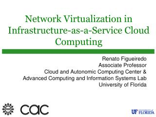 Network Virtualization in Infrastructure-as-a-Service Cloud Computing