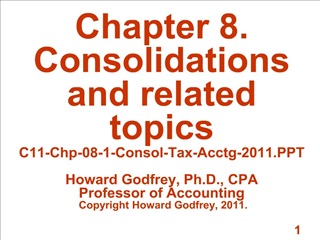 Chapter 8. Consolidations and related topics C11-Chp-08-1 ...
