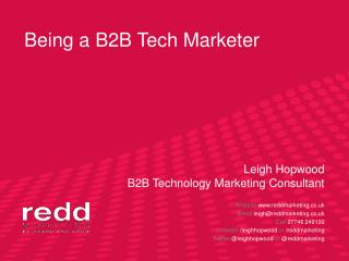 Being a B2B Tech Marketer