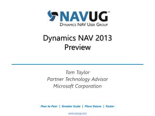 Dynamics NAV 2013 Preview
