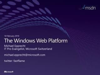 The Windows Web Platform
