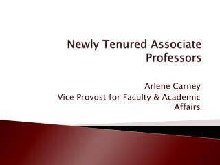 Newly Tenured Associate Professors
