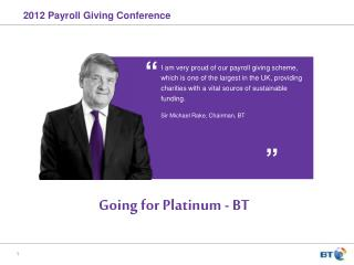 2012 Payroll Giving Conference