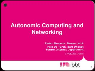 Autonomic Computing and Networking