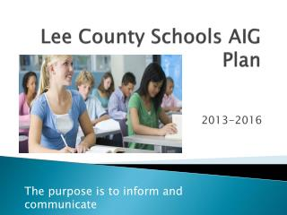 Lee County Schools AIG Plan