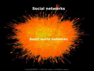 Social networks Small world  networks