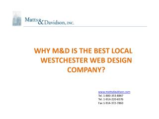 WHY M&D IS THE BEST LOCAL WESTCHESTER WEB DESIGN COMPANY?