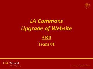 LA Commons  Upgrade of Website