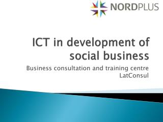 ICT in development of social business