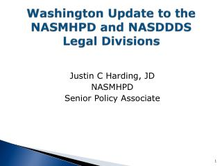 Washington Update to the NASMHPD and NASDDDS Legal Divisions