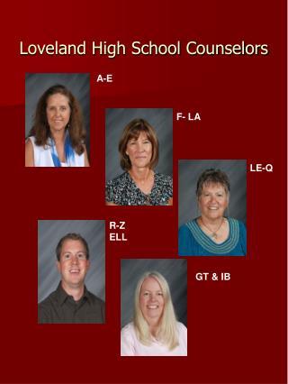 Loveland High School Counselors
