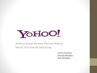 Antitrust Group: Business Plan and Website Yohoo ! Joint Internet Advertising