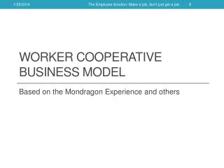 Worker Cooperative Business Model