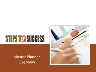 Master Planner Overview