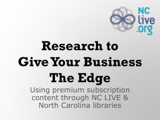 Research to Give Your Business The Edge