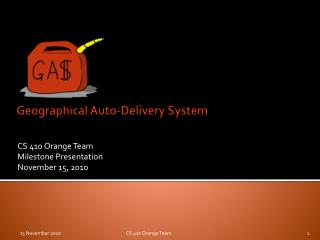 Geographical Auto-Delivery System
