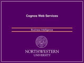 Cognos Web Services