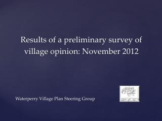 Waterperry Village Plan Steering Group