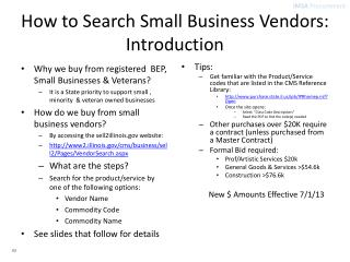 How to Search Small Business Vendors: Introduction
