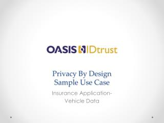 Privacy By Design Sample Use Case
