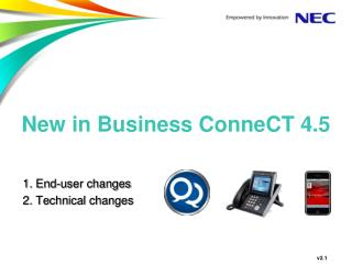 New in Business ConneCT 4.5