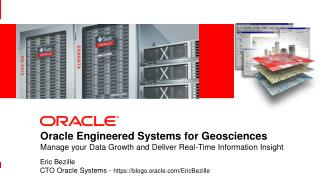 Oracle Engineered Systems for Geosciences