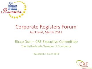 Corporate Registers Forum Auckland, March 2013