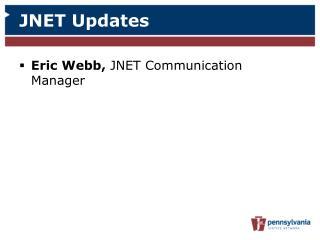 JNET Updates