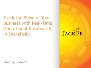 Track the Pulse of Your Business with Real-Time Operational Dashboards in SharePoint