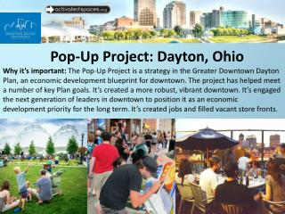Pop-Up Project: Dayton, Ohio