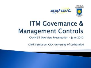 ITM Governance & Management Controls