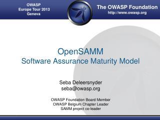OpenSAMM Software Assurance Maturity Model