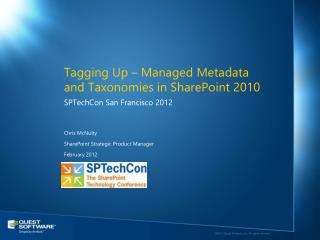 Tagging Up – Managed Metadata and Taxonomies in SharePoint 2010