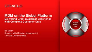 MDM  on the Siebel Platform  Delivering Great Customer Experience with Complete Customer  Data